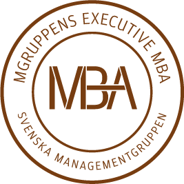 Mgruppen Executive MBA - logotype (brun)